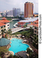 Singapore City View - City River View - Swiming Pool -...