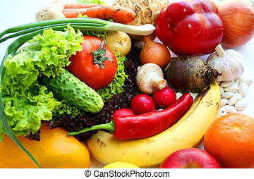Vegetarian food. Fruits and vegetables. Still life