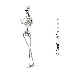 Bored Skeleton - 3D rendered Illustration. A bored Skeleton....