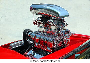 Car Engine - Car engine photographed at local show in...