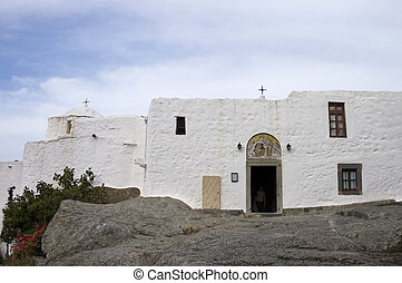 white stucco grotto - Grotto of St John the Theologian in...