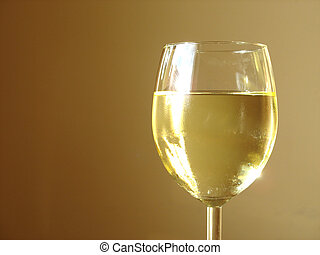 Chilled White Wine - with a peach background