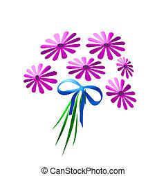 ピンク, デイジー, 花束