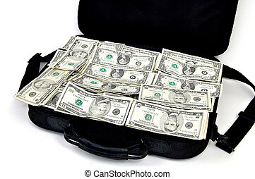 Money Bag - A briefcase full of money