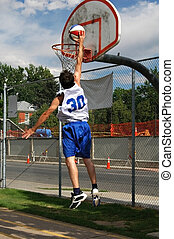 Jump Shot - A basketball player making a basket