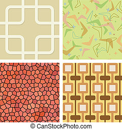 Seamless Retro Til - Set of Seamless Retro Tiles