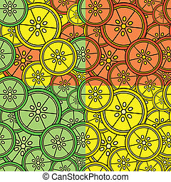 Seamless Citrus Tiles - Set of Seamless Citrus Tiles