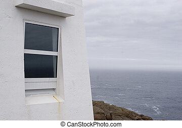 Window - The window on the lighthouse at Cape Spear, the...