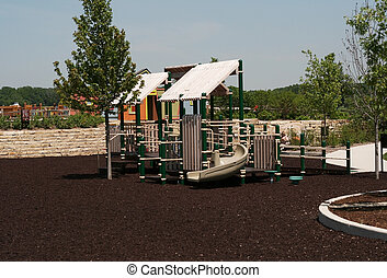 Park playground - A climbing aparatus in the park for...