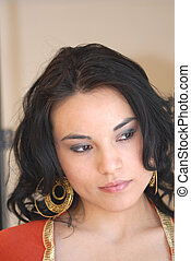 Latina Portrait - A portrait of a young latina woman from...