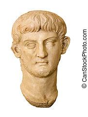 Nero, Roman Emperor - Marble head of Nero Claudius Caesar...
