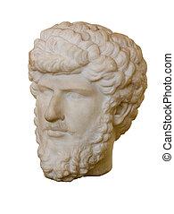 Marcus Aurelius, Roman Emperor - Marble head of Marcus...