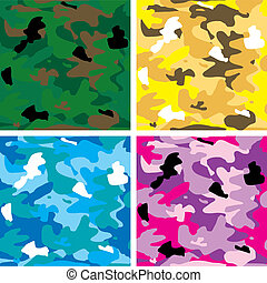 camouflage tile - Abstract arm camouflage in different...