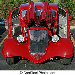 Classic Roadster - Antique red classic automobile