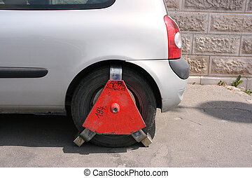 Parking offence punished - Car parked in a place with...