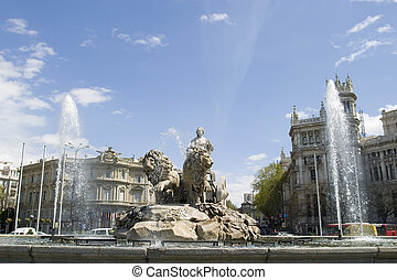 Cibeles Fountain at 0 degrees angle
