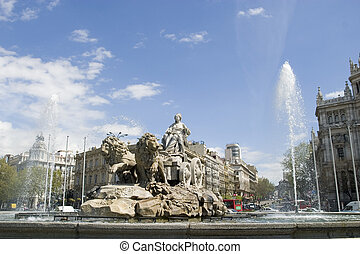Cibeles Fountain at 10 degrees angle