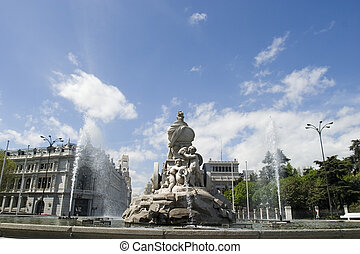 Cibeles Fountain at 180 degrees angle