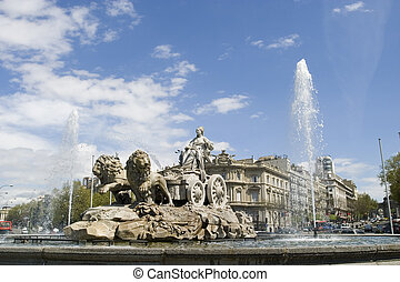 Cibeles Fountain at 20 degrees angle