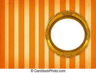 circular frame - hollow gilded circular frame on retro...