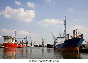 Harbour 2 - View on the Port of Rotterdam