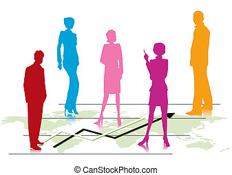 Global Data Management Team - Illustration of Business...
