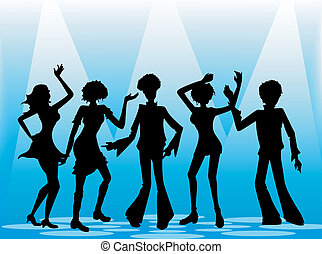 Retro Party - Illustration of people partying