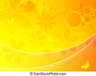 summer background - Abstract floral background using warm...