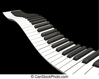Wavy piano keys - Background of wavy piano keys