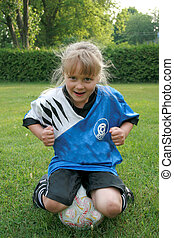 silly soccer kid