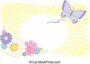 Butterfly & Flower Graphi - Butterfly and flower...