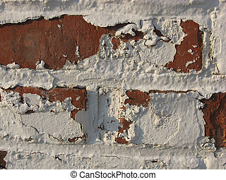 peeling paint and red brick 2