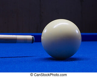 Pool - Cue ball on pool table