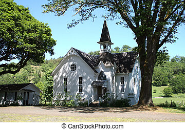 Old Country Church - Calapooia Country Church, Douglas...
