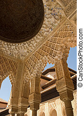 Lions Patio Alhambra - Lions Patio Columns Alhambra Spain