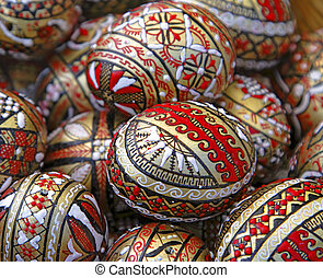 Romanian Easter eggs background