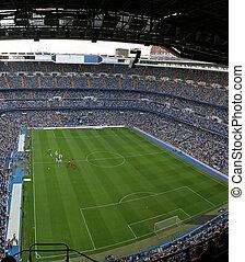 Soccer Stadium - Santiago Bernabeu, soccer stadium full of...
