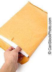 big envelope and document - big envelope big envelope and...