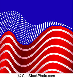 American Flag United States - Stars united into one, symbols...