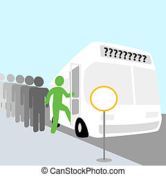 Happy Bus Trip People - Get on board the people bus. Where...