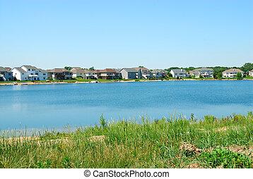 Residential Upscale Lakeside Neighborhood