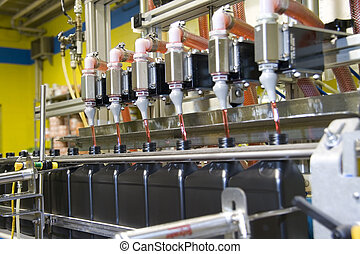 Oil packaging 2 - Bottle filling operation at an oil plant