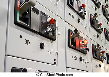 Control panel 2 - Electical control panel at an oil...