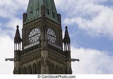 Peace tower - A shot of the Peace Tower.