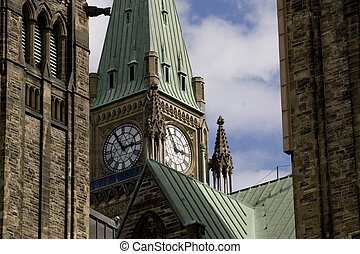 Canadas Capitol - Shot of the Peace Tower, part of the main...