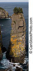 Majestic Sea Stack - A huge sea stack on the east coast of...