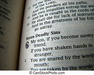 Seven Deadly Sins - A macro of the bible.
