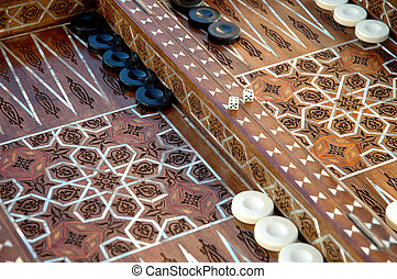 unique Backgammon set - Hand crafted syrian backgammon set...