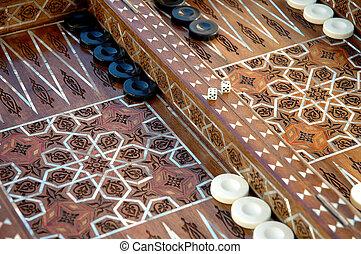 unique Backgammon set - Hand crafted syrian backgammon set...
