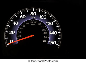 Odometer - An automobile odometer with copy space all around...